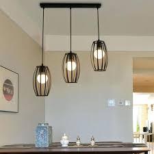 1 set modern ceiling light black chandelier led lamp kitchen pendant lighting full size
