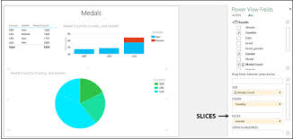 Power View Pie Chart Excel Power View Pie Chart Visualization Tutorialspoint