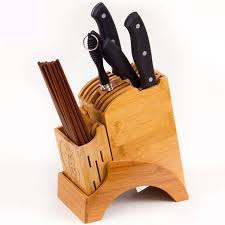 Creative Bamboo Kitchen Knife Holder Multifunctional Kitchen Accessories  Storage Rack Tool Holder Wood Knife Stand Knife