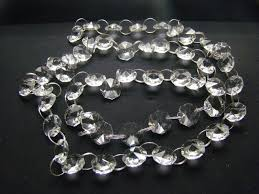 20 meters lot 14m hot silvery ring crystal garland chain glass garland chains chandelier