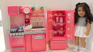 Pink Kitchen Our Generation New Gourmet Kitchen Set Review Youtube