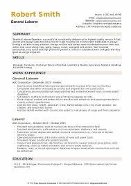 general laborer resume skills laborer resume samples qwikresume
