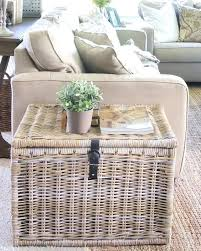 basket end table a beautifully organized living room just a girl and her blog basket tables