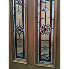 sd042 victorian edwardian original stained glass exterior door the edwardian star in red