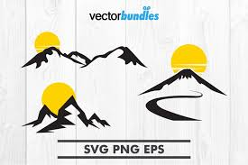Remember, we include assembly videos for all of our free svg files, you'll. Mountain Sun Clip Art Svg 371437 Svgs Design Bundles