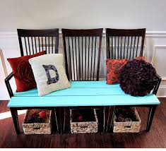 furniture repurpose. Repurpose Old Kitchen Chairs, Painted Furniture, Beautiful New Bench For Our Foyer Created From Furniture S