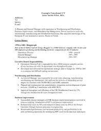 Functional Format Resume Sample Executive Samples Chrono Beautiful