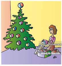 Cartoons Und Karikaturen Mit Christbaumkugeln