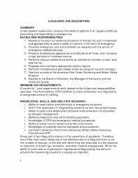 Lifeguard Job Description Resume Examples Example Experience Points