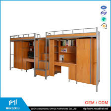 office bunk bed. Luoyang Mingxiu Office Furniture Steel Bunk Bed / Queen Size For Adult