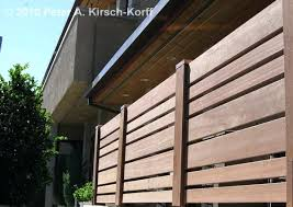 Horizontal Wood Fence Panels Air Conditioning Enclosure With
