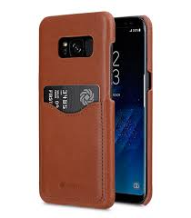 melkco premium leather case for samsung galaxy s8 card slot back cover v2 orange