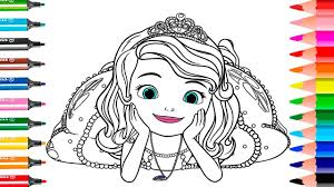 Princess Sofia The First Coloring Book Pages L Color For Kids L