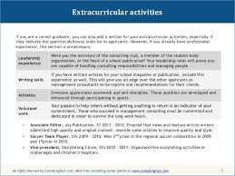 Extra Curricular Activities For Resume Publicassets Us