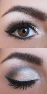 sparkly smokey make up with cat eyeliner