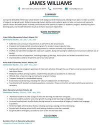 Cover Letter Elementary Teacher Resume Sample Resumelift Com Teacher