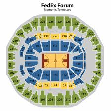 Memphis Grizzlies Stadium Seating Chart Fedex Forum