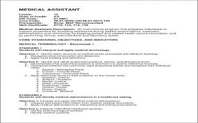 Resume Templates For Medical Assistants Fresh Certified Medical