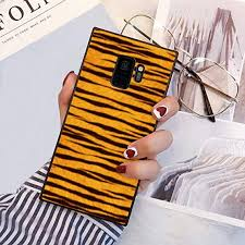 YaoLang Samsung Galaxy S9 Square Edges Case, Tigeriraffe <b>Fluff</b> ...