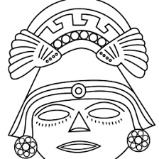 Small Picture Aztec Mask Coloring Page Kids Drawing And Coloring Pages Marisa