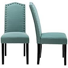 chair dining. lssbought set of 2 luxurious fabric dining chairs with copper nails and solid wood legs ( chair