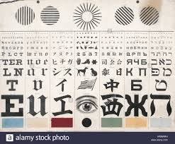 George Mayerle Test Chart George Mayerles Eye Test Chart 1907 Stock Photo 135090917