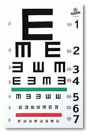 Graham Field 1262 Illiterate E Eye Test Chart