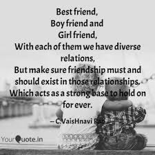 Best Friend Boy Friend Quotes Writings By Vaishnavi Rao