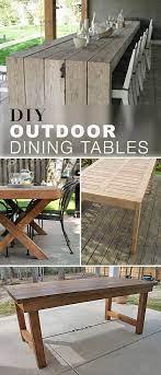 diy outdoor dining table ideas