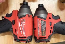 dewalt impact driver vs drill. milwaukee 2753 m18 fuel impact driver vs 2653 length comparison dewalt drill
