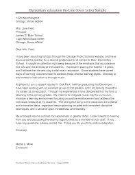 Sample Cover Letter For Teaching Position Resume Samples