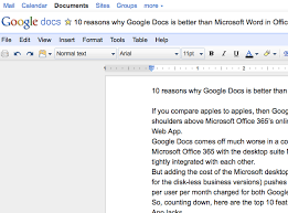 Office Word Format 10 Reasons Why Google Docs Is Better Than Word In Microsoft