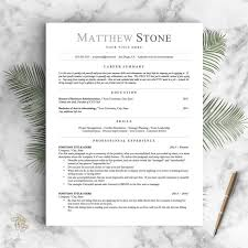 Open Office Resume Best Professional Resume Template For Word Pages And OpenOffice Etsy