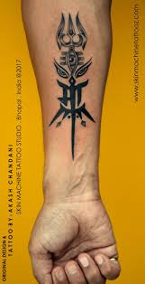 Custom Maa With Shiva Durga Elements Tattoo By Akash Chandani