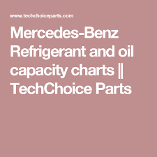 Tractor Refrigerant Capacity Chart Mercedes Benz Refrigerant And Oil Capacity Charts