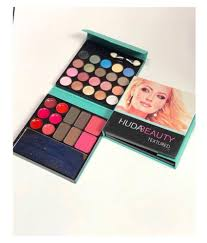 huda beauty 32 shades 5d highlighter concealer contour 3in1 makeup kit turquoise huda beauty 32 shades 5d highlighter concealer contour 3in1