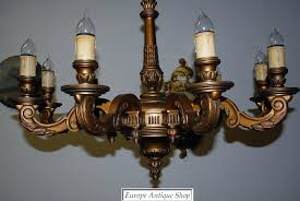 antique wood chandelier a huge french antique carved wood gilded 9 light chandelier from antique wood antique wood chandelier