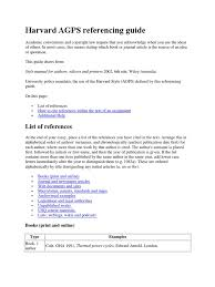 Harvard Agps Referencing Guide Citation Web Page
