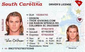 sc Fake New Carolina South Scannable Id License- Drivers