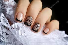 Krásné černé Nehty Umění Design Stock Fotografie Devmarya 88900796