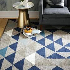 shining west elm rug framed triangles wool kilim