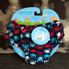 I Play Swim Diaper In Navy Crabs Size 24m Nwt Nwt