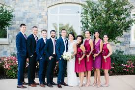 wine red wedding. Raspberry Red and Navy Blue Wedding at Army Navy Country Club