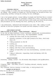 Cv Sales Assistant Sales Assistant Cv Example Icover Org Uk