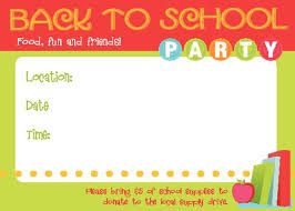 Back To School Invitation Template Invite For Back To School Party Craftbnb