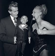 Ray Alan with Lord Charles and Joan Rhodes. ca.1955. : OldSchoolCelebs