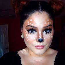 cute deer makeup look for
