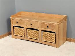 small hall furniture. amish small hall storage bench with baskets and drawers furniture e