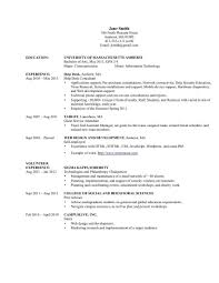 Information Technology Resume Examples Of Resumes Throughout