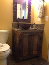 Wonderful Handmade Rustic Reclaimed Barn Wood Rustic Vanity With Black  Granite Top As ...